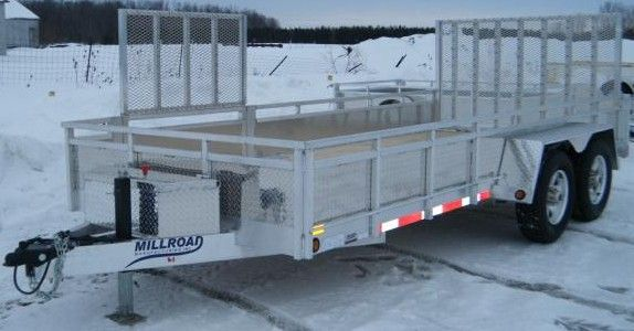 MST1280 trailer shown with optional 4 foot side gate