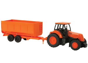 Kubota Tractor & Wagon Toy Set
