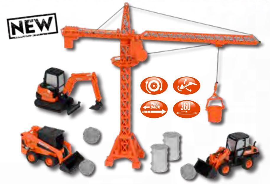 Kubota Diecast Construction Equipment & Playset