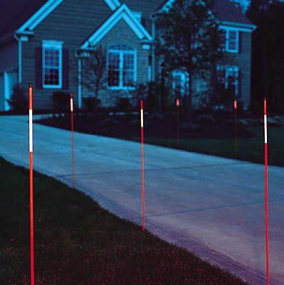 orange reflective driveway marker