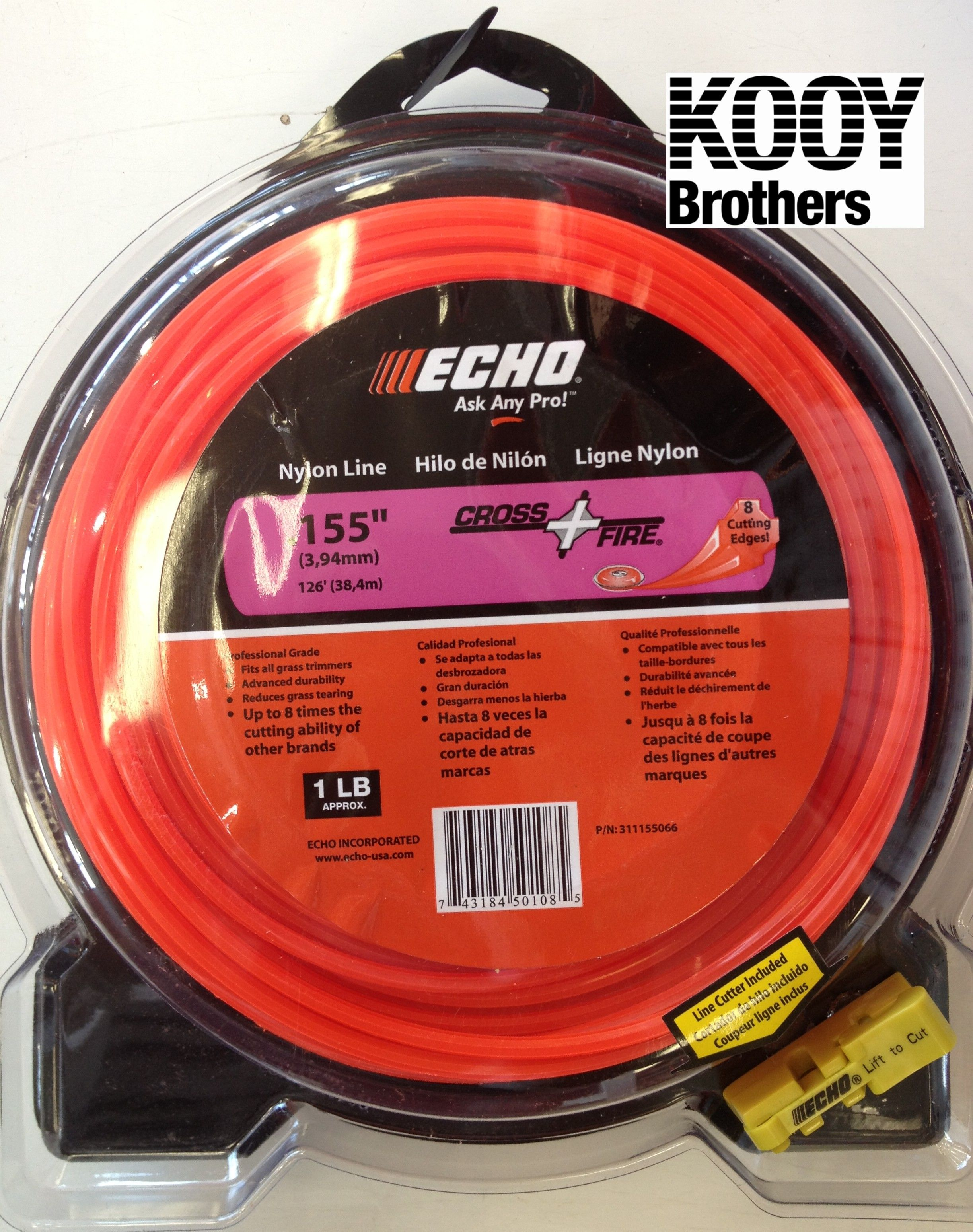 ECHO .155 Replacement Trimmer Line 1lb roll