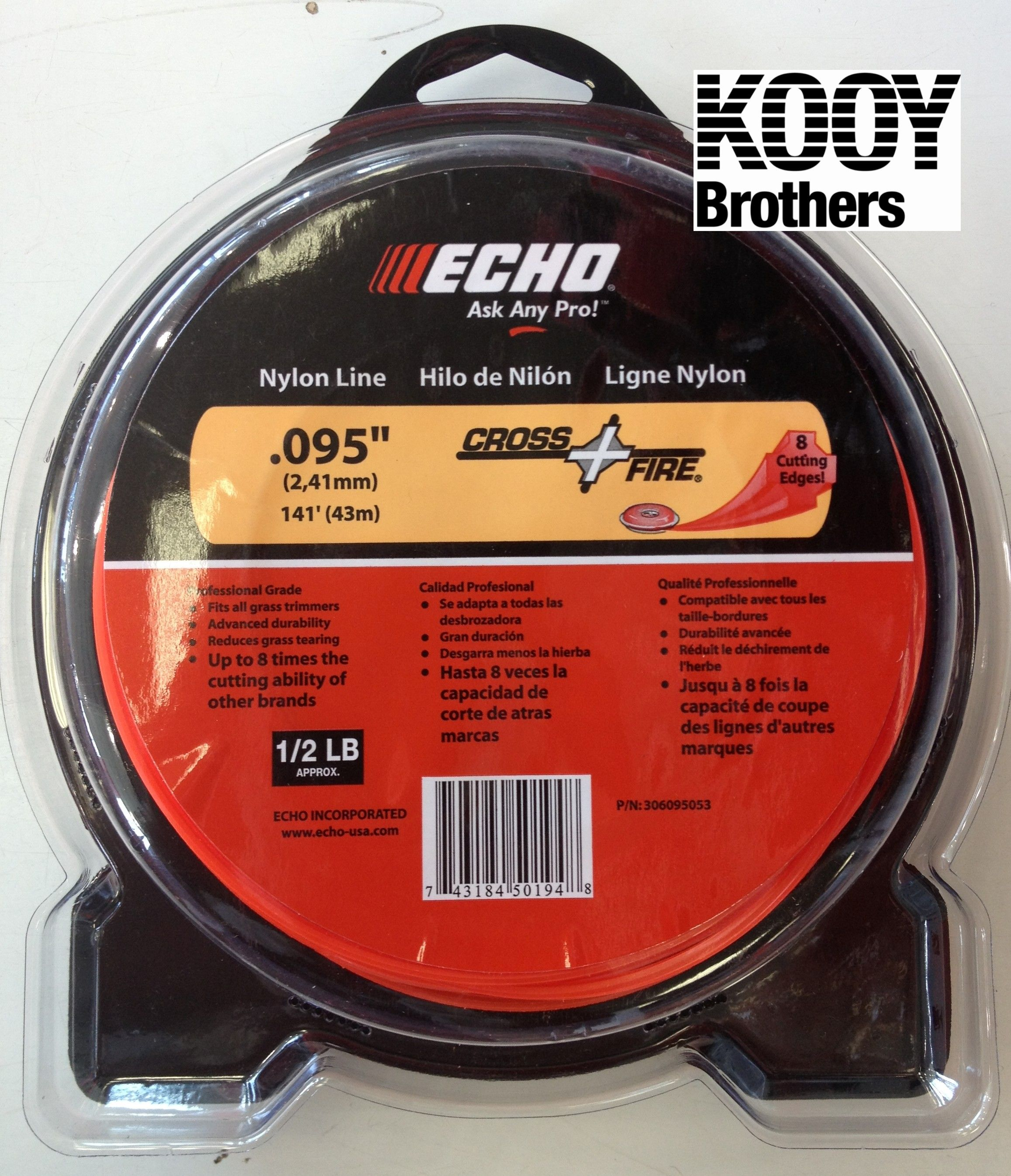 ECHO .095 Replacement Trimmer Line .5lb roll
