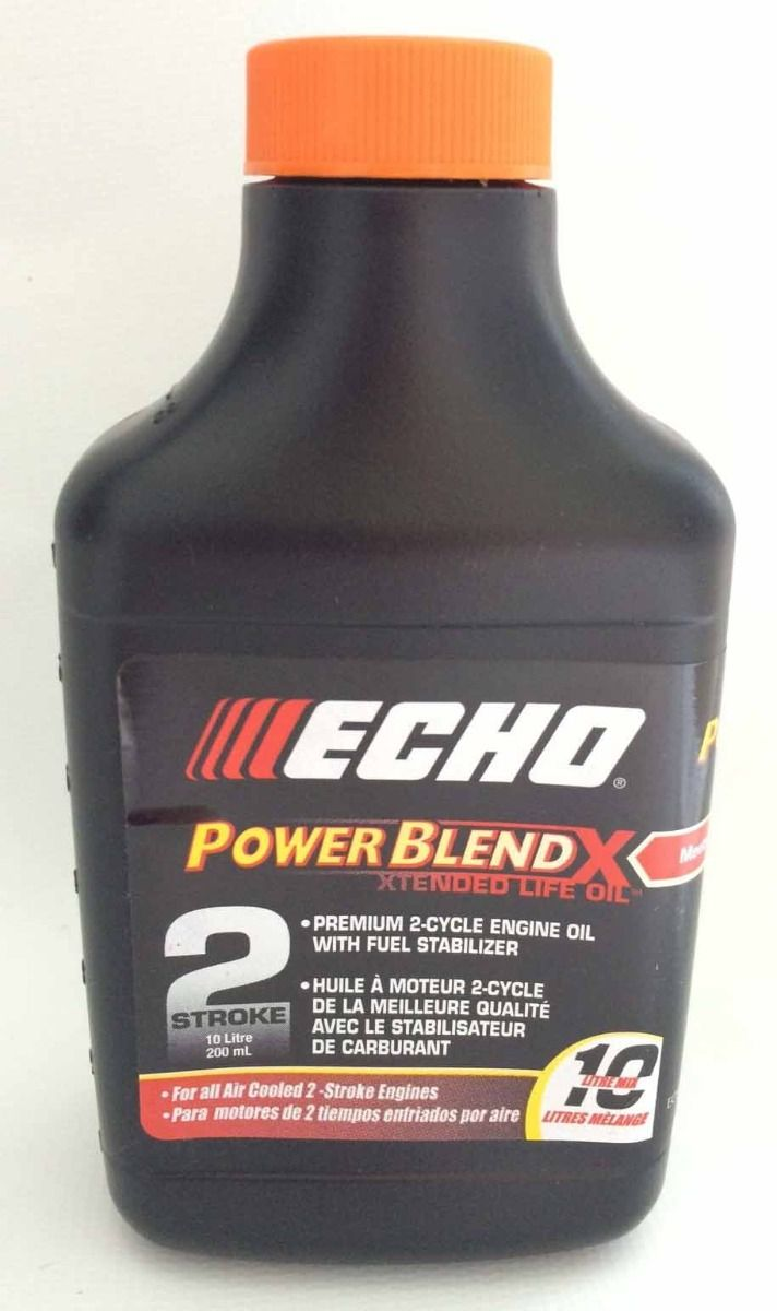 ECHO two cycle Engine Oil with fuel stabilizers 200mL bottle 999888-0008-6