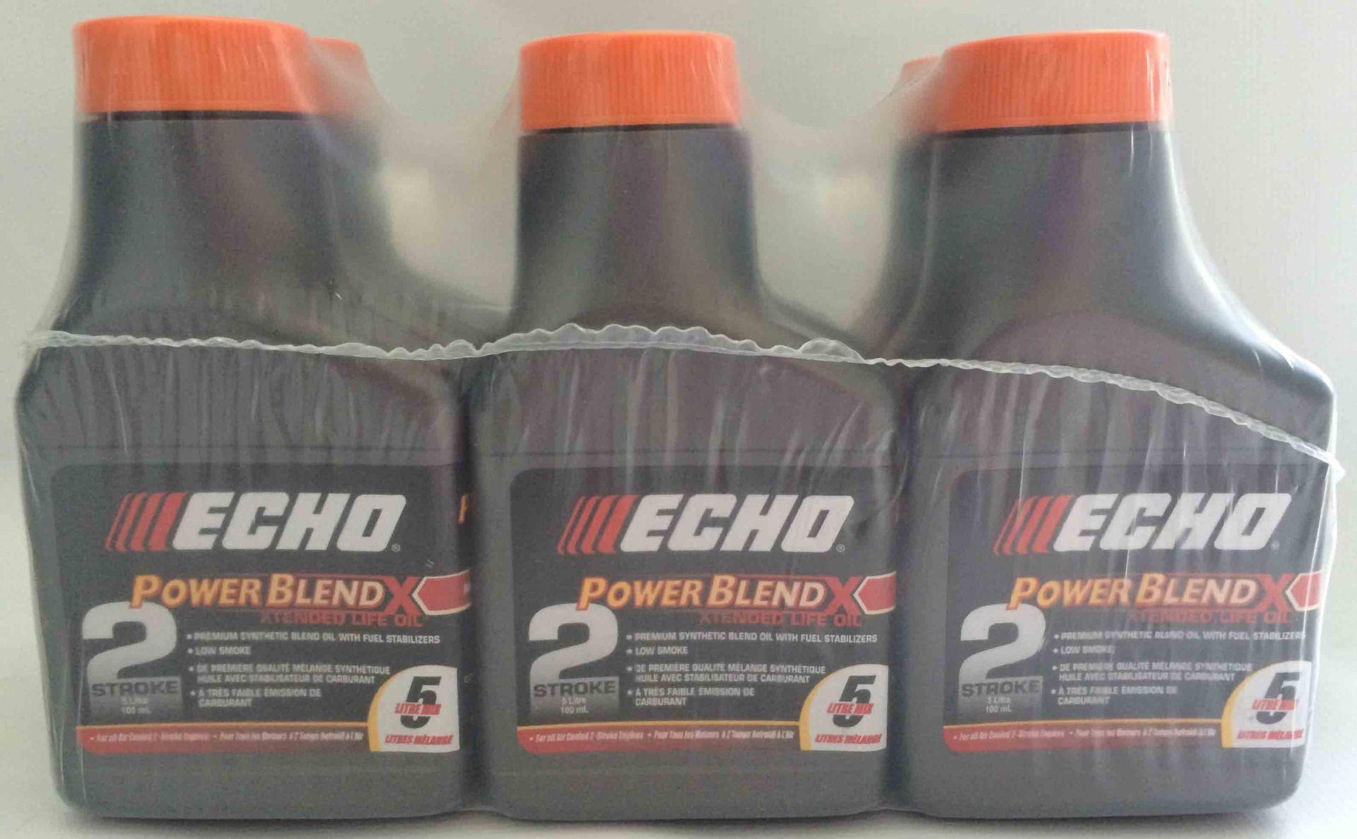 ECHO Premium Synthetic Powerblend oil in 100mL bottles x 6