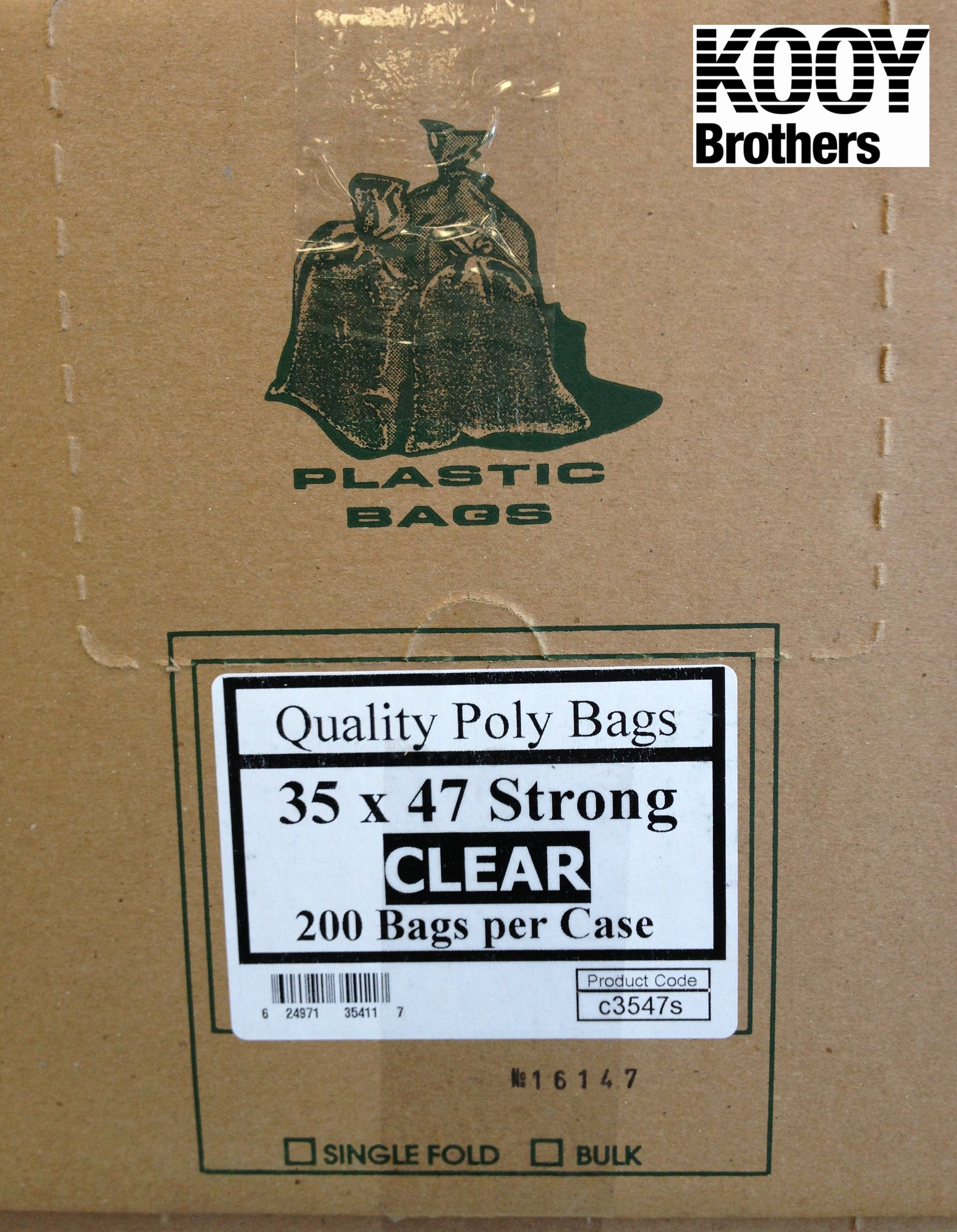 GB3 Clear plastic garbage bags