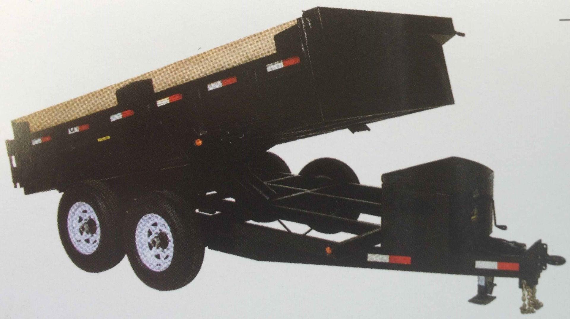Medium Duty Dump Tandem Trailer MDD612 with 2' high sides by JDJ (6' W x 12' L)
