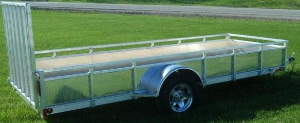 """Millroad Aluminum Custom Trailer 60""""x14' with Solid Sides MS514"""