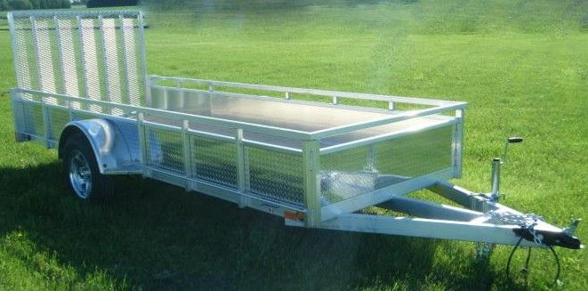 """Millroad Aluminum Custom Trailer 80""""x12' with Solid Sides MS1280"""