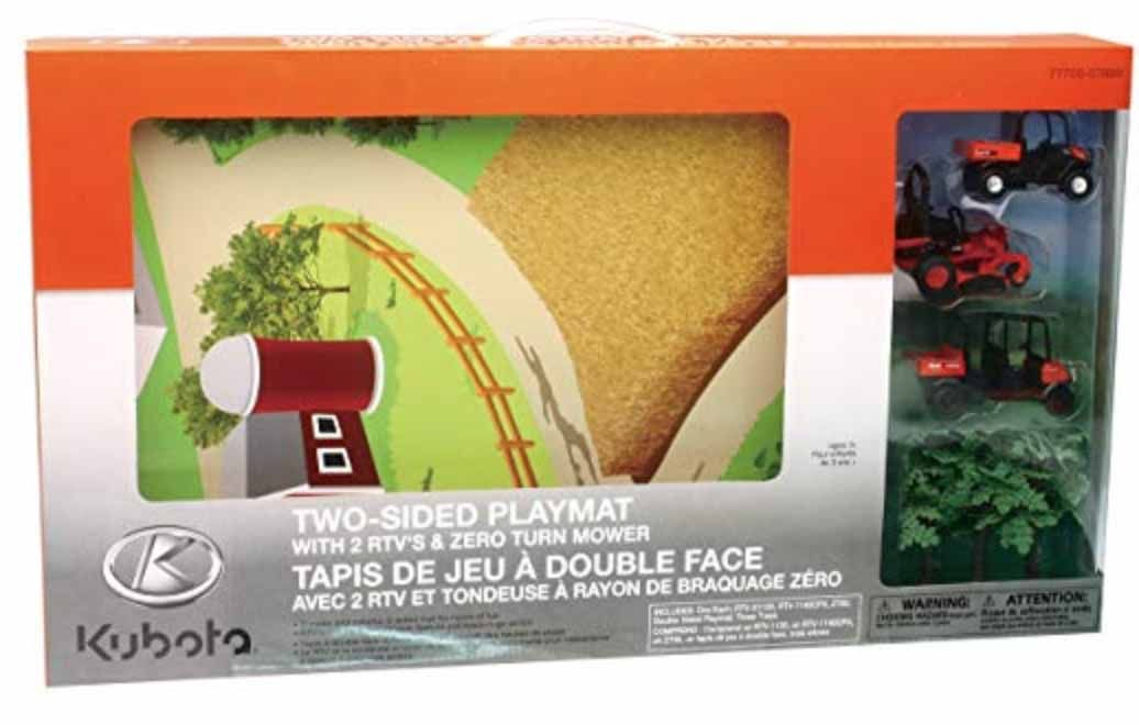 Kubota Farm/Golf Play Mat with Toy Mower and RTV