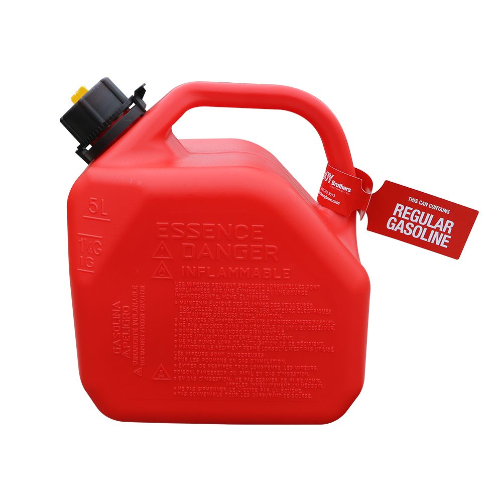 Regular Gasoline Can / Fuel Can Tag