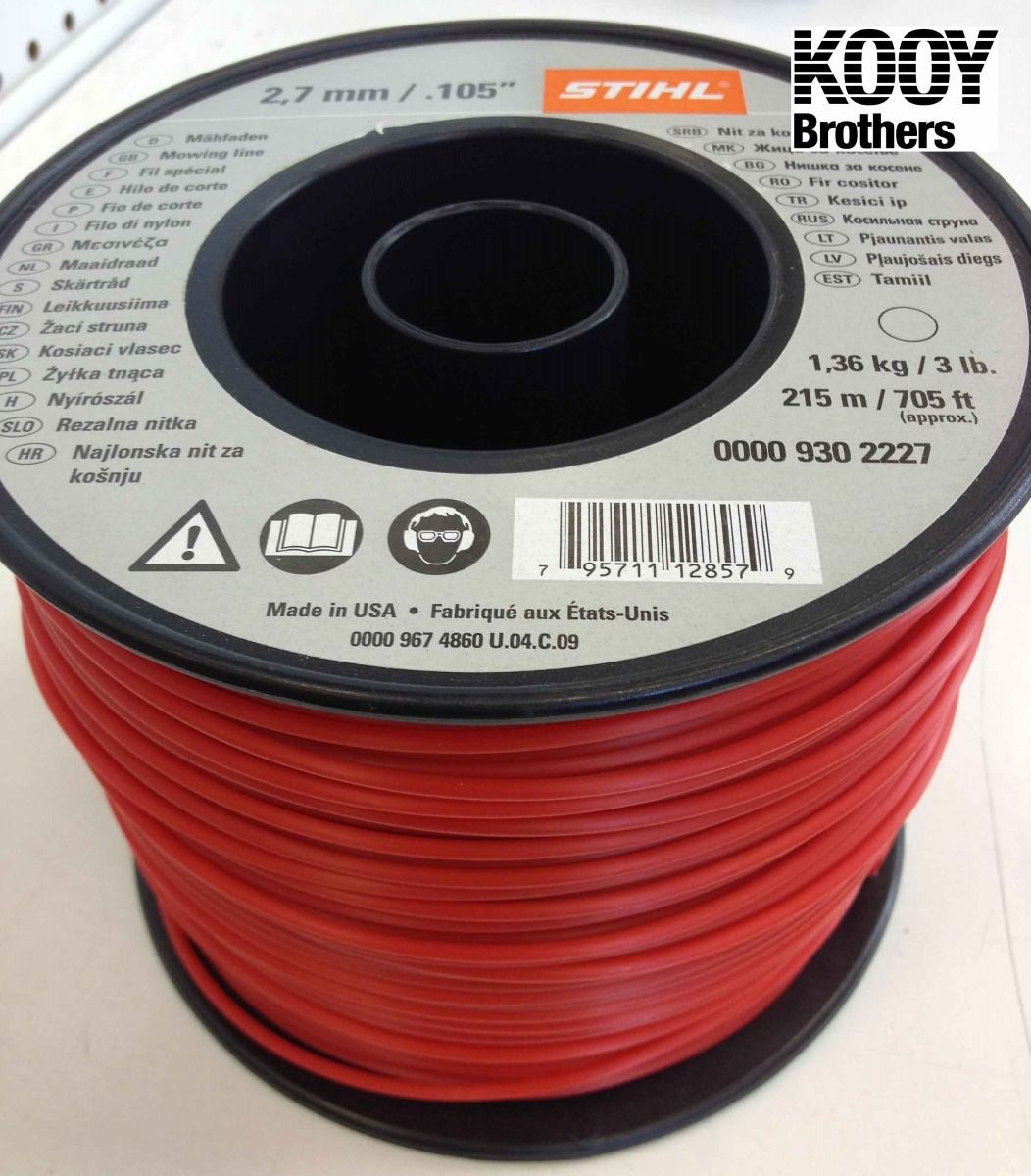 STIHL Replacement Trimmer Line .105 3LB Roll