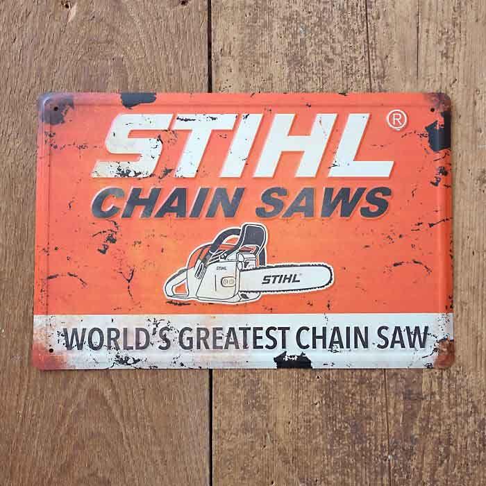 STIHL Vintage Chainsaws Sign