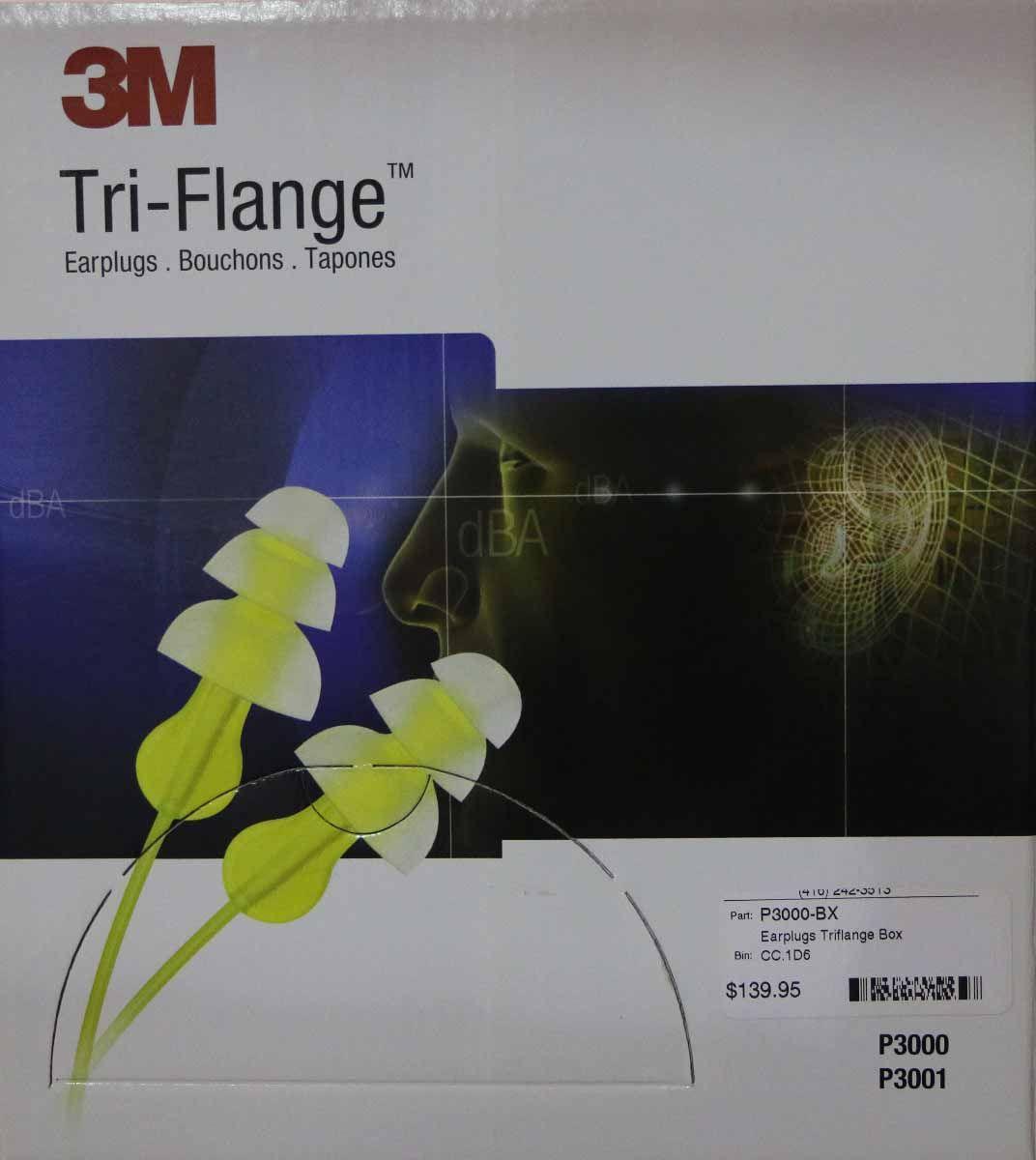 3M Tri-Flange Corded Ear Plug